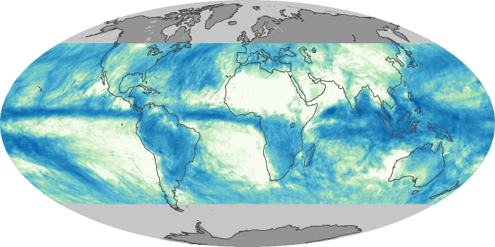 Global Map Total Rainfall Image 204