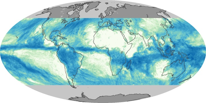 Global Map Total Rainfall Image 103