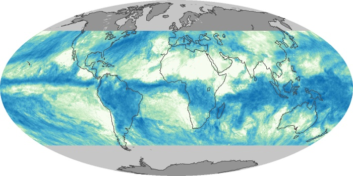 Global Map Total Rainfall Image 206