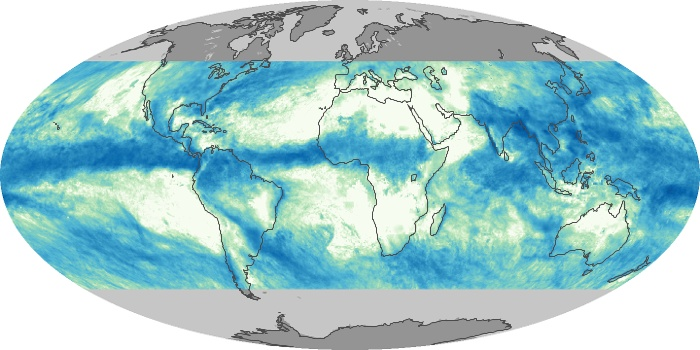 Global Map Total Rainfall Image 109