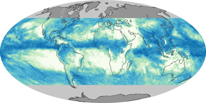 Global Map Total Rainfall Image 187
