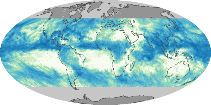 Global Map Total Rainfall Image 213