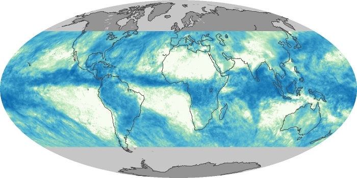 Global Map Total Rainfall Image 215