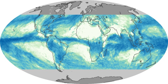 Global Map Total Rainfall Image 216