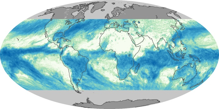 Global Map Total Rainfall Image 192