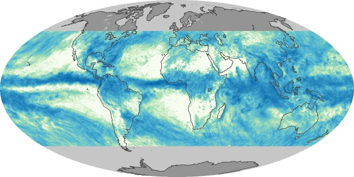 Global Map Total Rainfall Image 196