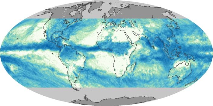 Global Map Total Rainfall Image 222