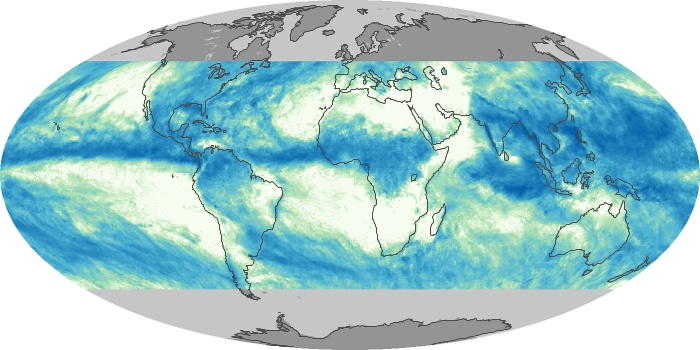 Global Map Total Rainfall Image 224