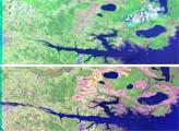 Landsat Views North Carolina Flood