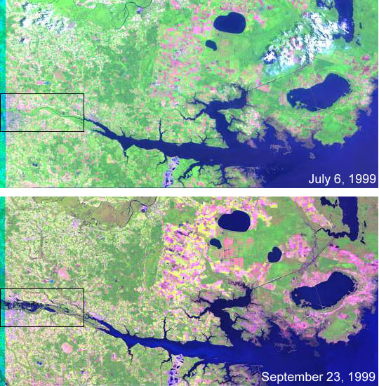 Landsat Views North Carolina Flood