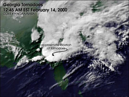 Georgia Tornadoes, February 14, 2000