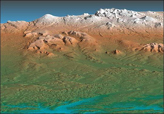 SRTM View of Kamchatka Penninsula