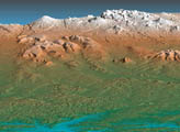 SRTM View of Kamchatka Penninsula