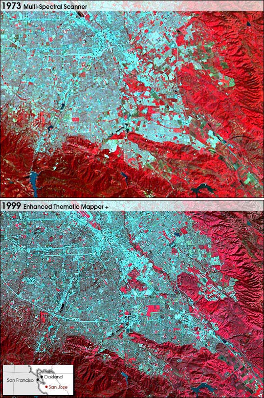 San Jose, California Growth 1973-1999