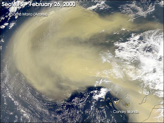 Dust Storm Sweeps from Africa into Atlantic