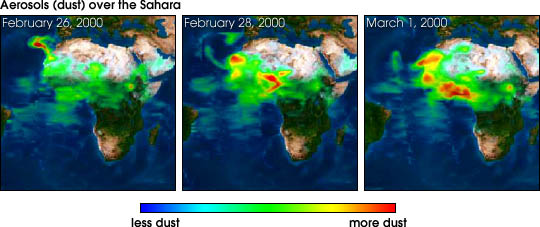 TOMS Shows Dust Plume Over Western Africa