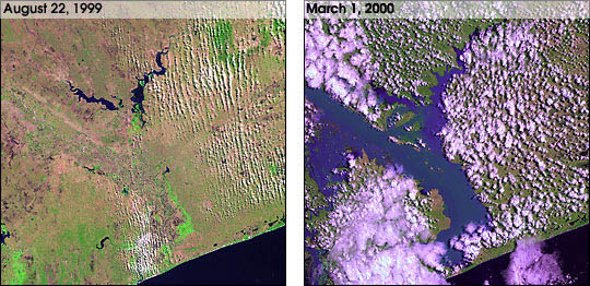 Landsat 7 Views Mozambique Flooding