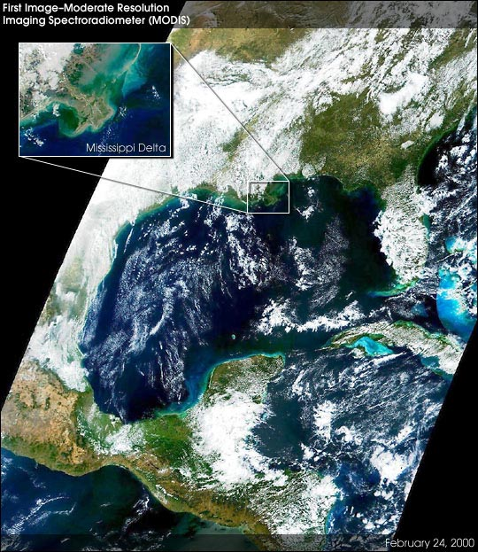 MODIS First Light Image