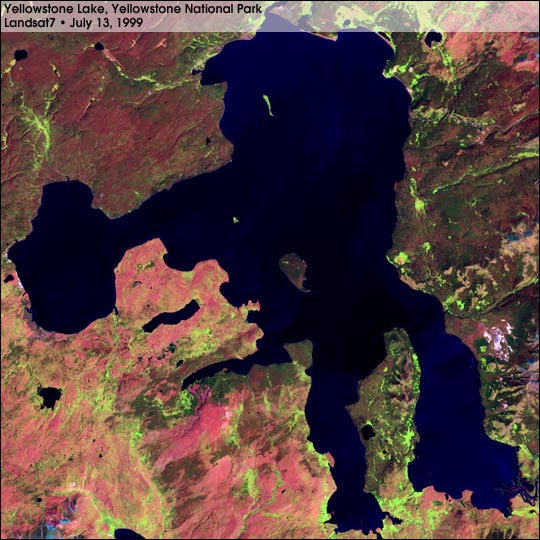 Landsat 7 - First Cloud-free Image of Yellowstone National Park