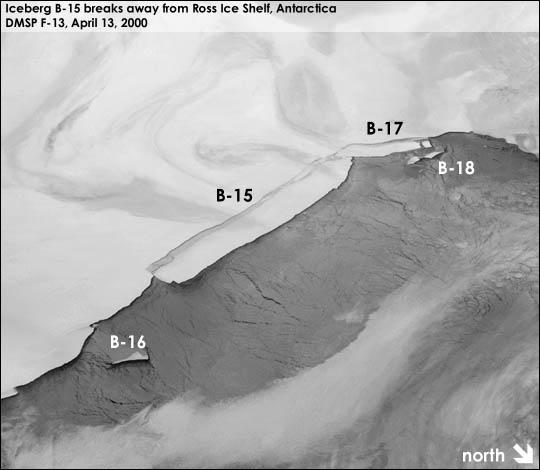 Iceberg B-15, Ross Ice Shelf, Antarctica