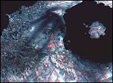 Stereo Image of Mt. Usu Volcano - selected image