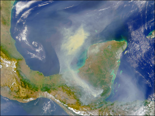 SeaWiFS Images Fires on Yucatan Peninsula