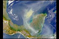 SeaWiFS Images Fires on Yucatan Peninsula