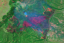 Los Alamos Fires From Landsat 7 - selected image