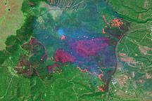 Los Alamos Fires From Landsat 7