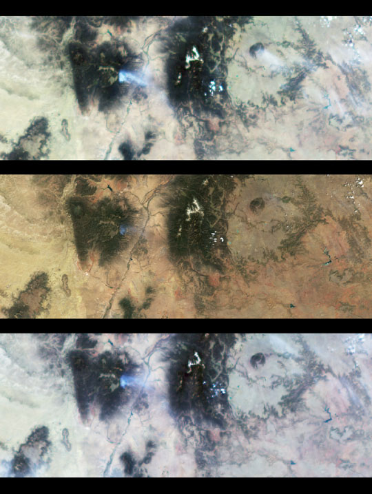 Multi-angle views of the Fire in Los Alamos, New Mexico, 9 May 2000