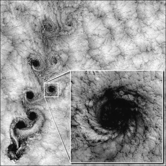 Landsat 7 Reveals Large-scale Fractal Motion of Clouds
