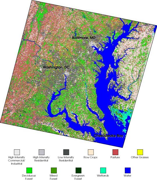 Landsat 7 land cover maps to benefit Chesapeake Bay watershed