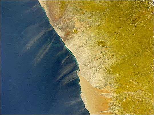 Dust Along the African Coast