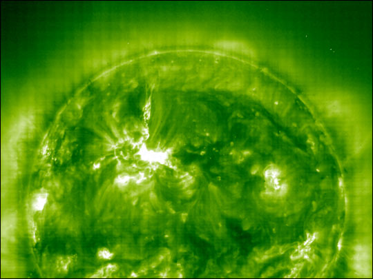 Solar Flare Aimed at Earth