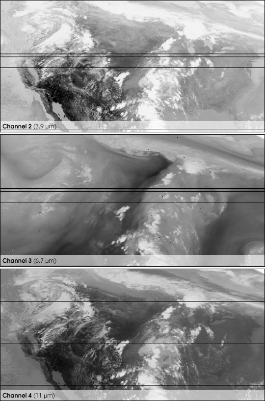 First Infrared Images from GOES 11 - related image preview