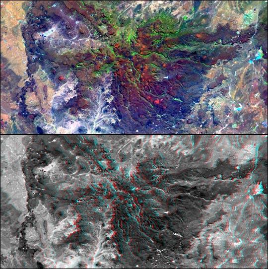 SRTM and Landsat views of Patagonia, Argentina