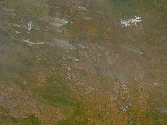 Fires in Central Africa