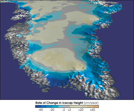 Thinning Greenland Icecap