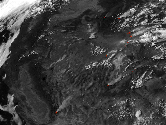 Extensive Fires in the Western U.S.