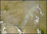 Smoke over Montana and Wyoming