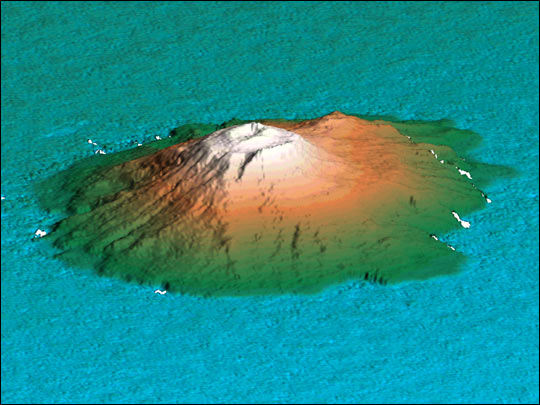 3D View of Mount Miyake-Jima, Japan