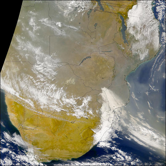 Smoke in Southern Africa