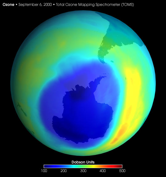Largest-ever Ozone Hole over Antarctica