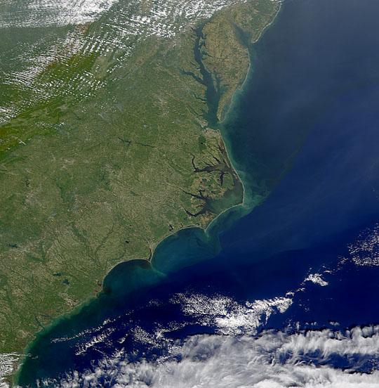SeaWiFS Views Sediment Along Atlantic Coast