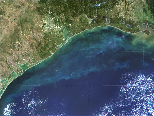 Red Tide off Texas Coast