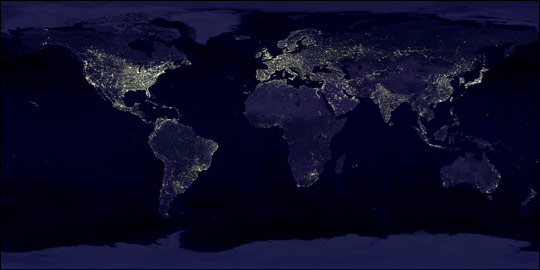 Earth's City Lights 1994 - related image preview