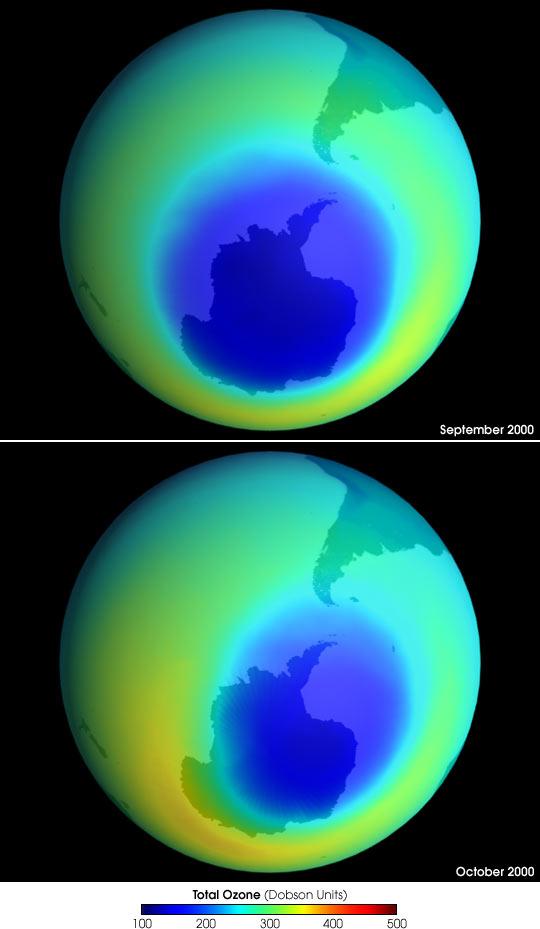 Antarctic Ozone Hole, 2000