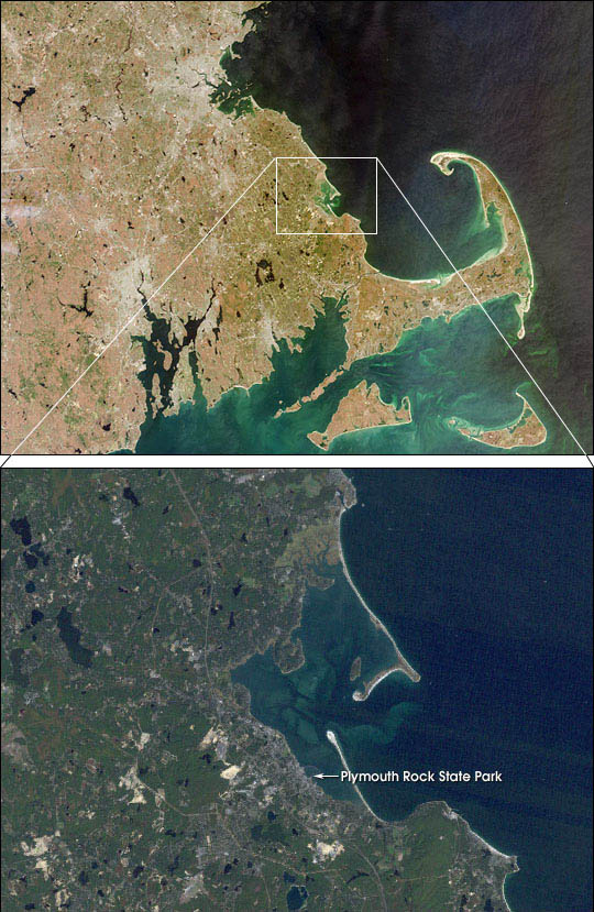 Plymouth, Mass. from Landsat and MISR