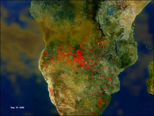 Unprecedented Fires in Southern Africa