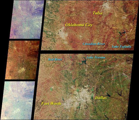 MISR Scans the Texas-Oklahoma Border